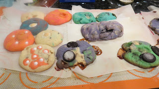 home made rainbow cookies with marshmallows and oreos