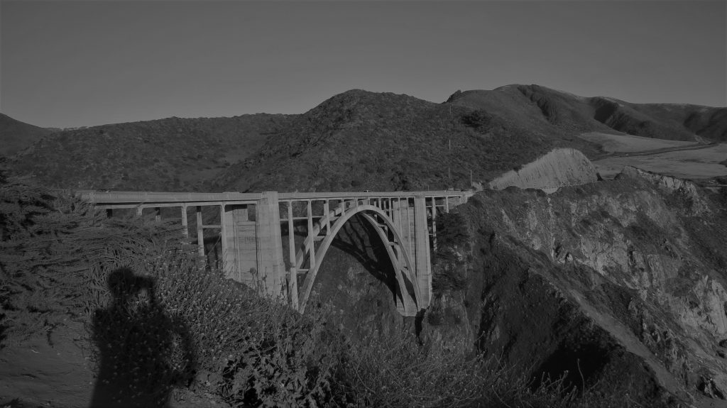 Bridges and shadows black and white blog photo challenge